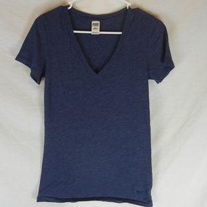 Victoria Secret Dark Blue V-neck Sleeper T-Shirt